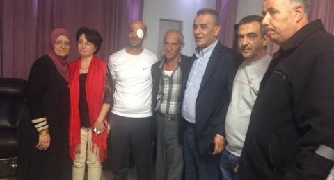 القدس : لؤي عبيد فقد عينه اليسرى بعد استهدافه بعيار مطاطي