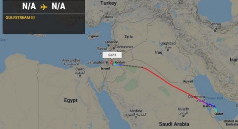 طائرة إسرائيلية هبطت أمس بمطار الدوحة وعادت اليوم لتل أبيب