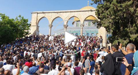 اعتقال عدة شبان اثر قمع مسيرة انطلقت من الأقصى نصرة للرسول محمد عليه السلام