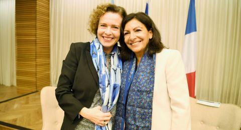 رئيسة بلدية حيفا د. عينات كاليش تستقبل رئيسة بلدية باريس السيدة آن هيدالغو