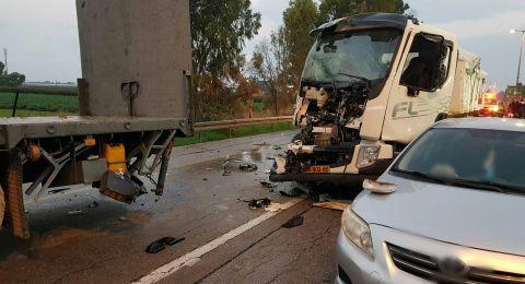 حادث طرق مروع في الجنوب .. مصرع سائق وإصابة 4 آخرين