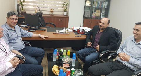 النائب مسعود غنايم يزور كلية القاسمي ويجتمع برئيس كلية العلوم والهندسة الدكتور مدحت عثمان