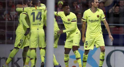 قمة الليغا بين برشلونة وأتلتيكو مدريد تنتهي بالتعادل