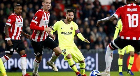 ميسي يقود برشلونة لعبور ايندهوفن وتوتنهام يحيي آماله بالتأهل