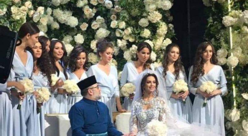 ملك ماليزيا يتزوج ملكة جمال موسكو!