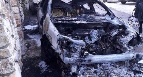 عرابة:اقتحام بيت المحامي نهاد كناعنه وحرق سيارته