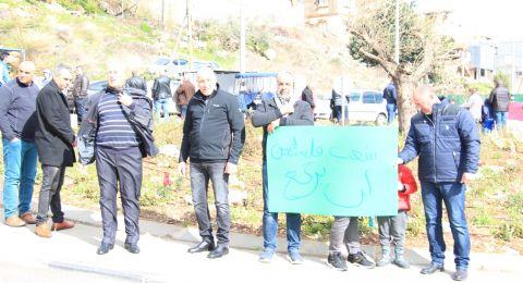 وقفات احتجاجية على صفقة القرن في دير حنا ودير الأسد