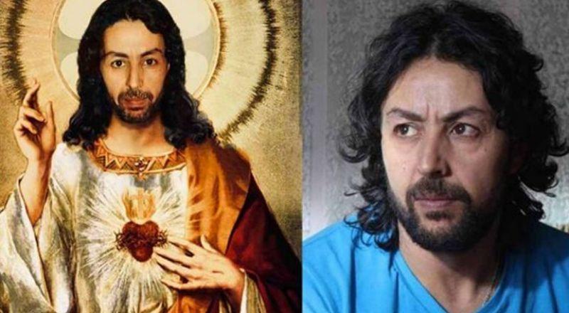 ممثل مغربي يثير الجدل بسبب تركيب صورته على لوحة المسيح