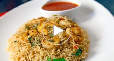 طبق الأرز مع القريدس من مطبخ