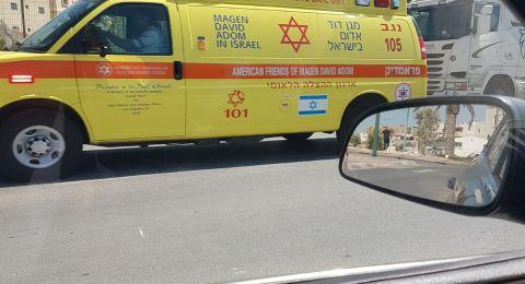 الناصرة: اصابة خطرة لشاب بحادث دراجة نارية
