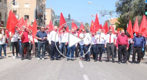 حيفا: العشرات يحيون ذكرى الأول من أيار