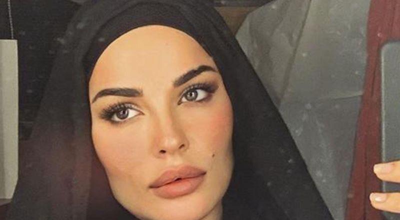 خبيرة مكياج خليجية تحول نفسها إلى نادين نسيب نجيم بالحجاب