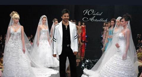المصمم وليد عطالله يعرض مجموعته لفستان زفاف 2013