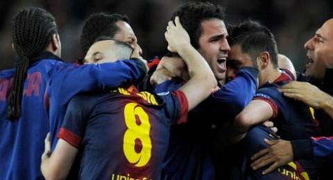 برشلونة يصل الى النقطة 100 بفوزه على ملقا