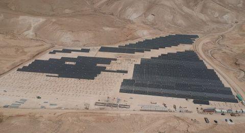 نور أريحا أكبر محطة شمسية فلسطينية محلية