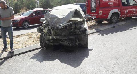 مصرع مواطن نابلسي وإصابة طالبات من جامعة النجاح في حادث طرق