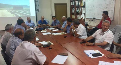 جلسة تشاورية في المركز العربي للتخطيط البديل لمتابعة قضية الغرق في سهل البطوف وقضايا المزارعين