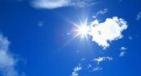 حالة الطقس: الجو غائماً جزئياً وصيفياً معتدلاً