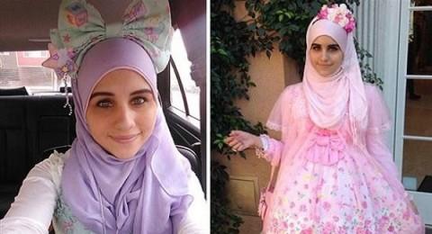 فتاة مسلمة تستوحي أزياء للمحجبات من الموضة اليابانية