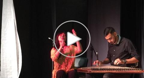 مركز محمود درويش في حفل تكريم الفنانة امل مرقس والباحث جوني منصور