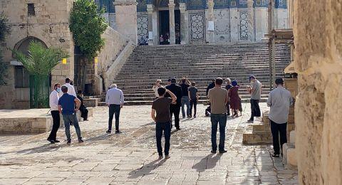 اقتحام 165 مستوطن الأقصى والاوقاف تهيب بالتقيد بالإجراءات الوقائية خلال صلاة العيد