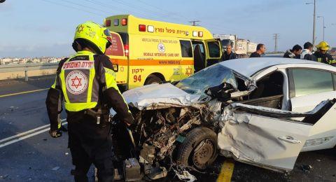 حادث طرق مروع في وادي عارة، وآخر بمركز البلاد .. وإصابات متفاوتة