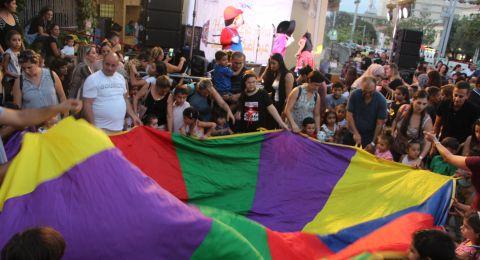 الآلاف يشاركون في احتفالية عيد الأضحى في الحي الالماني في حيفا