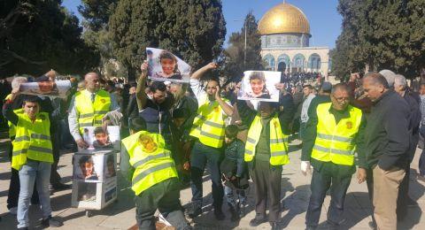 انطلاق حملة فلسطين لمناصرة أهلنا في سوريا من رحاب الأقصى