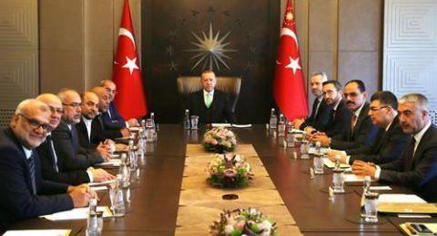 وفد من الحركة الاسلاميه يلتقي بالرئيس التركي رجب اردوغان .
