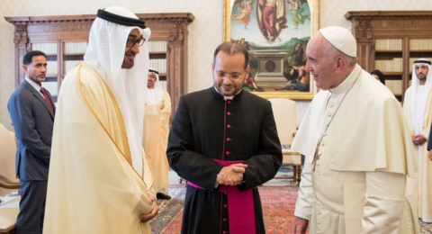 ولي عهد أبوظبي لبابا الفاتيكان: مرحبا في دار زايد!