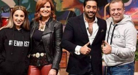 أول ظهور إعلامي لهنا شيحة وأحمد فلوكس معاً بعد الزواج