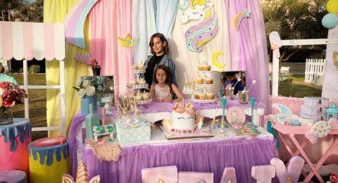 إيمان العاصي تحتفل بعيد ميلاد ابنتها ..هل تشبهها؟