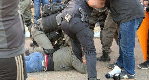 قلنسوة: الشرطة تعتقل أربعة متظاهرين