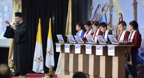 الاب إندراوس بحوث، المدبر البطريركي لرعية الروم الكاثوليك يحل ضيفاً على مسابقة معرفة الكتاب المقدس