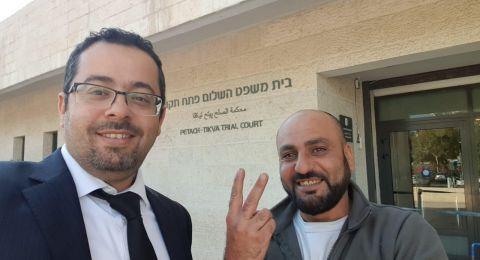 بعد اعتقاله في تظاهرة قلنسوة .... اطلاق سراح أشرف ابو علي