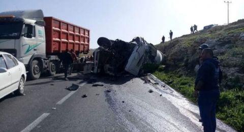 حادث طرق مروع بالقرب من بيت لحم يسفر عن 9 اصابات