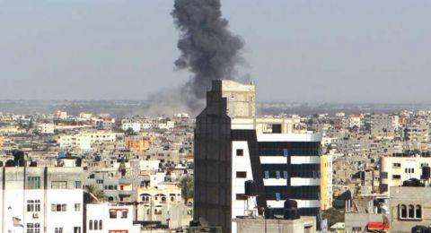 سقوط قذيفة مصرية برفح الفلسطينية