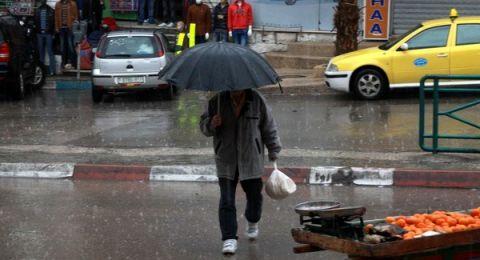 حالة الطقس:امطار محلية خفيفة