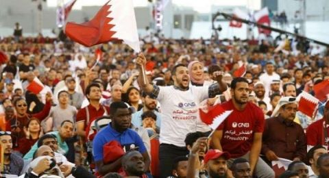 أمير دولة قطر يستقبل أبطال منتخب