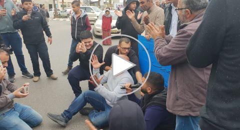 قلنسوة مظاهرة صاخبة ضد هدم البيوت ومحمد عودة يحاول احراق نفسه