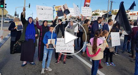 أهالي ام الفحم يصرخون مجددًا ضد الاجرام ويغلقون الشوارع