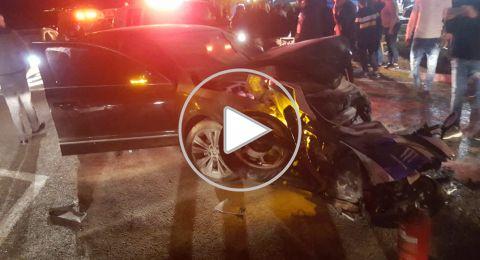 مفرق شعب: اكثر من 10 اصابات في حادث طرق بين دراجة نارية وسيارة خصوصية