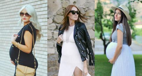 للحوامل: أفكار لارتداء الفساتين الماكسي مستوحاة من أناقة الشارع
