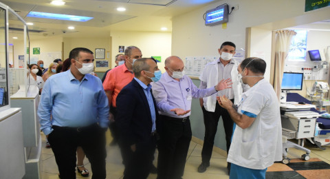 جامزو يزور مستشفى نهاريا، ويصرح لـ