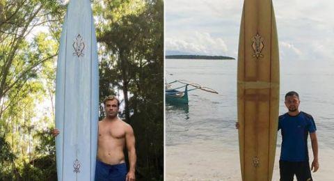 لوح ركوب أمواج يسبح عامين من هاواي إلى الفلبين