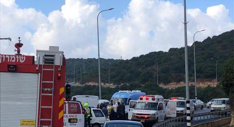 6 إصابات جراء حادث قرب امّ الريحان