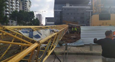 تل أبيب: انهيار رافعة في ورشة بناء