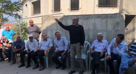 اجتماع طارىء بمجلس كفرقرع احتجاجا على قتل قاسم غاوي