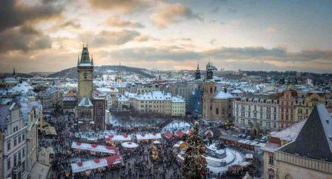 السياحة في براغ في الشتاء