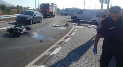 حادث طرق قرب طبريا ومصرع سائق دراجة عربي